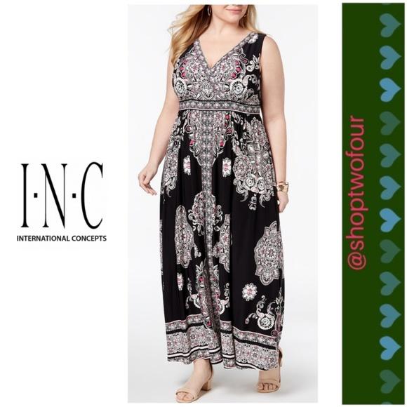 INC International Concepts Dresses   Inc Plus Size Printed ...